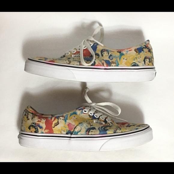a23afff435 Disney Princess Vans Shoes Women size 8. M 5bf4d611194dad4ac32ee01a